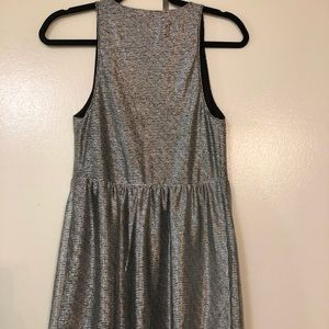Express Dresses - Express Metallic plunging neckline mini dress